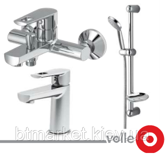 Набор смесителей для ванны VOLLE Benita (15171100 + 15172100 + 15146100), фото 2