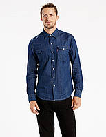 Рубашка джинсовая Levi's Men's Barstow Western Shirt Red Cast Rinse