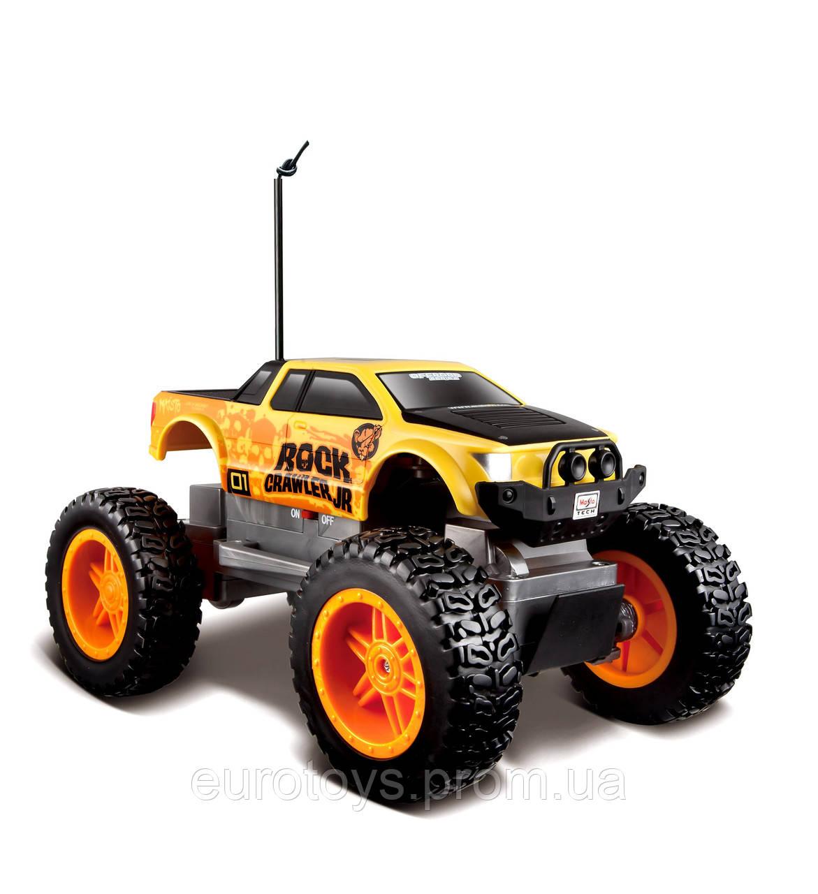 MAISTO TECH Автомодель  на р/у  Rock  Crawler Jr. желто-черный  (81162)