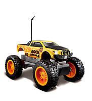 MAISTO TECH Автомодель  на р/у  Rock  Crawler Jr. черно - желтый  (81162)