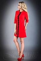 Женское короткое платье Офелия красное 42-48 размеры Jadone