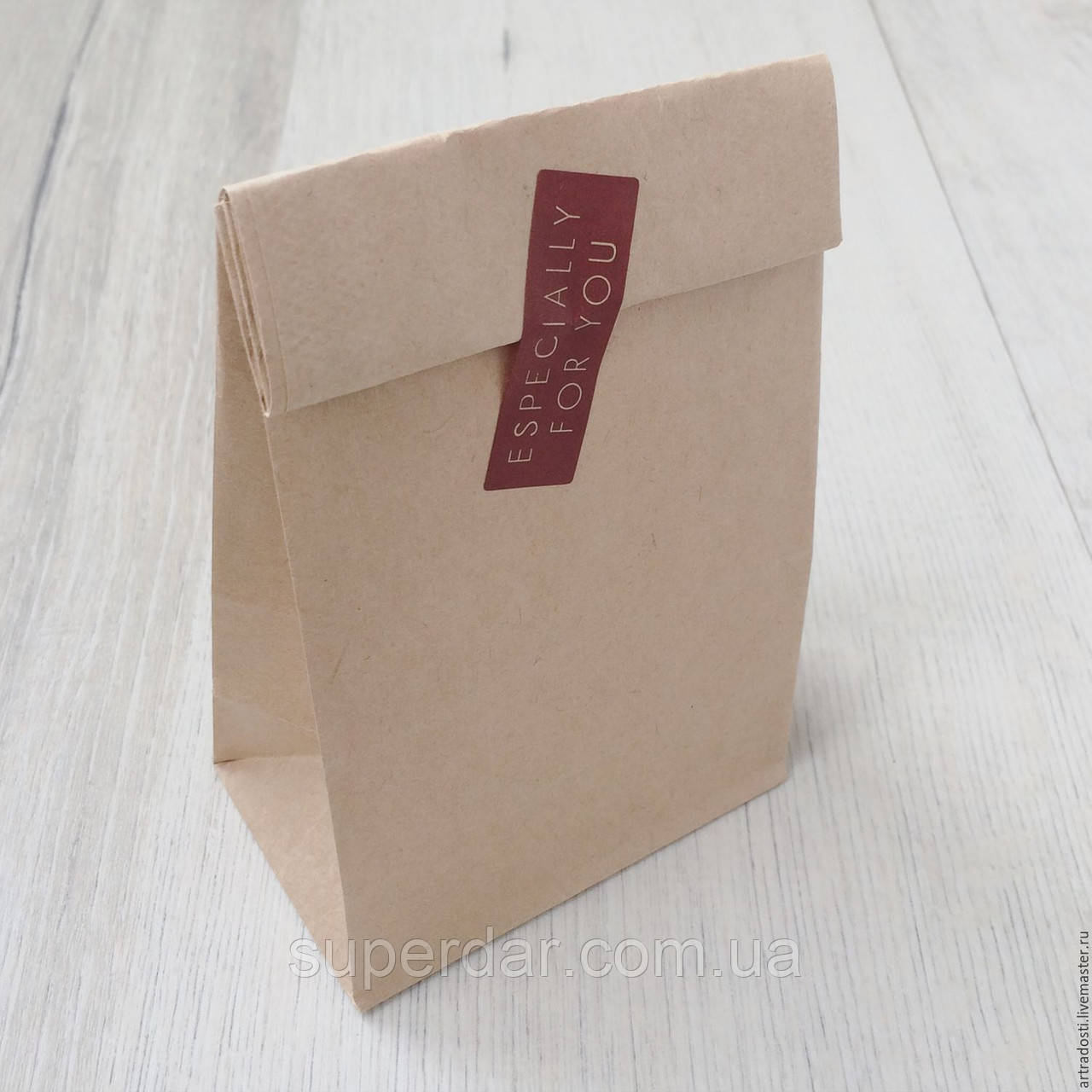 Пакет с дном «А» 240х120х85 мм., крафт бурый, прям. дно 50 г/м2