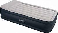 Высокая односпальная надувная кровать Intex 67732
