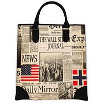 Сумка Мини с принтом Газетные новости