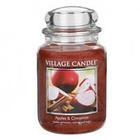 """Ароматическая свеча в стекле Village Candle """"Яблоко и корица"""". 740 гр/ 170 часов"""