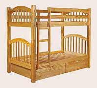 """Двухъярусная кровать из массива дерева """"Массив"""""""