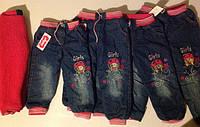 Детские утепленные джинсы для девочки 3-7 лет