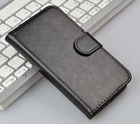 Кожаный чехол-книжка для  Huawei Y5 / Ascend Y560 черный