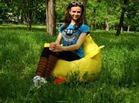 Детское кресло мешок груша Цыпленок 100х75 см