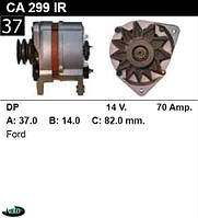 Генератор Ford Transit  Scorpio  Sierra 70Amp. CA299IR