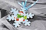 Снежинка №2 заготовка для декупажа и росписи, фото 2