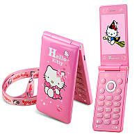 Мобильный раскладной телефон Hello Kitty D10 2 Sim с сенсорным экраном хелло китти