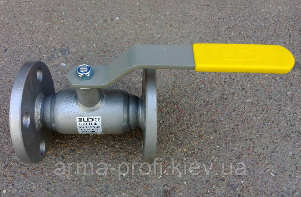 Кран фланцевый полнопроходной LD Ду 20 Ру40