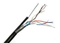 Витая пара FTP 4х2х0,51мм CCA с тросом 7*0,4 наруж. прокладки