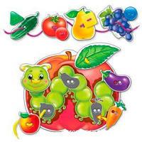Настольная игра для детей шнурочек-пуговка Фрукты-Овощи