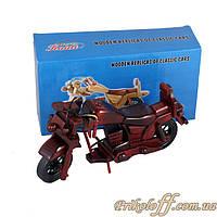 Деревянный мотоцикл сувенирный, большой