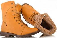 Ботинки на шнурках рыжие