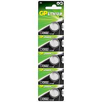 Батарейка дисковая GP CR2032-U5 Lithium CR2032, 3V