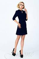 Женское классическое платье Никита темно-синее 42-48 размеры Jadone