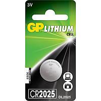 Батарейка дисковая GP CR2025-U1 Lithium CR2025, 3V
