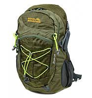 Рюкзак Туристический нейлон Royal Mountain 8343-22 dark-green, рюкзак для охоты и рыбалки, рюкзак для кэмпинга