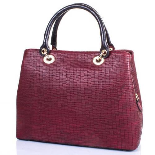 Кожаная женская сумка DESISAN (ДЕСИСАН) SHI4005-696 Бордовая