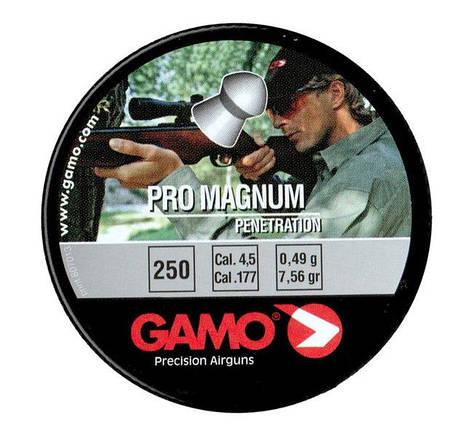 Gamo Pro Magnum. Остроголовые пули Гамо. Пули для пневматического оружия Gamo Pro Magnum 0,49г 250 шт 4,5 мм, фото 2