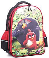 Яркий школьный рюкзак Wallaby, 114-1 черный/красный 13 л