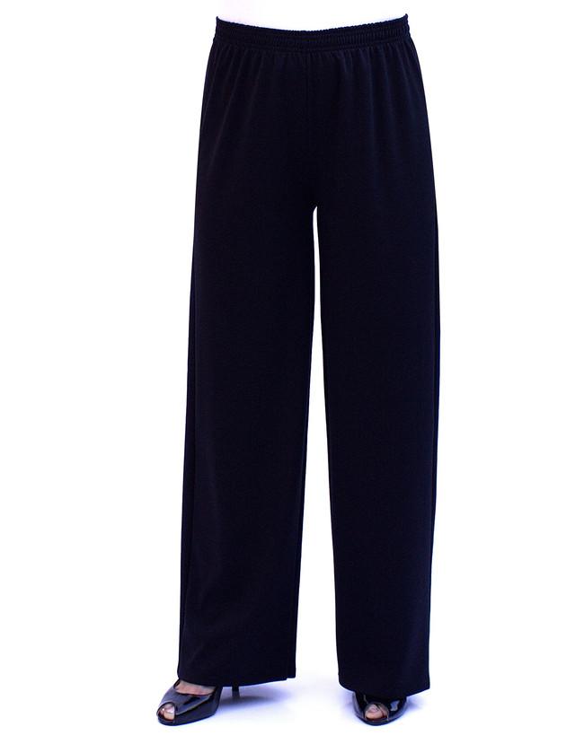 Женские брюки-клеш из французского трикотажа большого размера украинского пошива - фото teens.ua