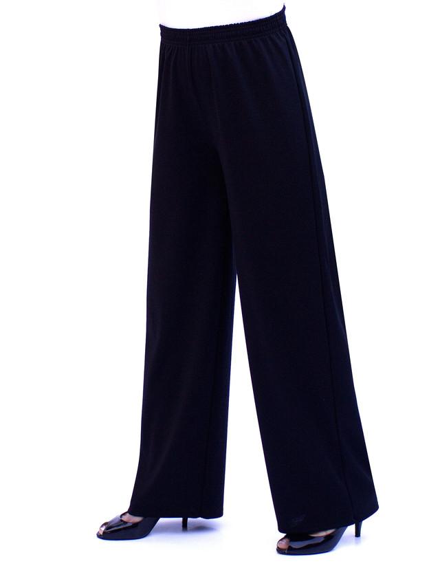 Женские брюки-клеш из французского трикотажа большого размера украинского пошива - профиль - фото teens.ua