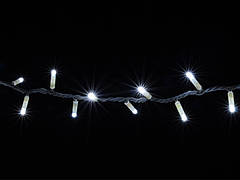 Гирлянда DELUX STRING 200LED 10m белая/белый провод, внешняя