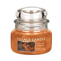 """Ароматическая свеча """"Осенний уют"""" в стекле Village Candle. 315 гр/ 55 часов"""