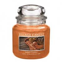 """Ароматическая свеча """"Осенний уют"""" в стекле Village Candle. 455 гр/ 105 часов"""
