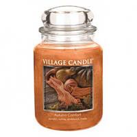 """Ароматическая свеча в стекле Village Candle """"Осенний уют"""". 740 гр/ 170 часов"""
