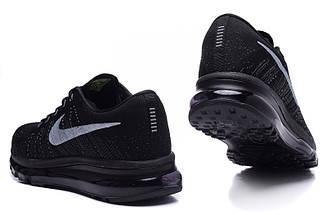 Кроссовки в стиле Nike Air Max Flyknit All Black, фото 2