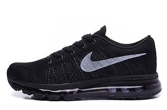 Кроссовки в стиле Nike Air Max Flyknit All Black, фото 3