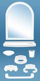 Набор аксессуаров для ванной комнаты Rainbow (8 элементов включая зеркало)