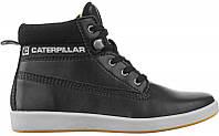 Женские ботинки Caterpillar Fleece D836 кожаные черные