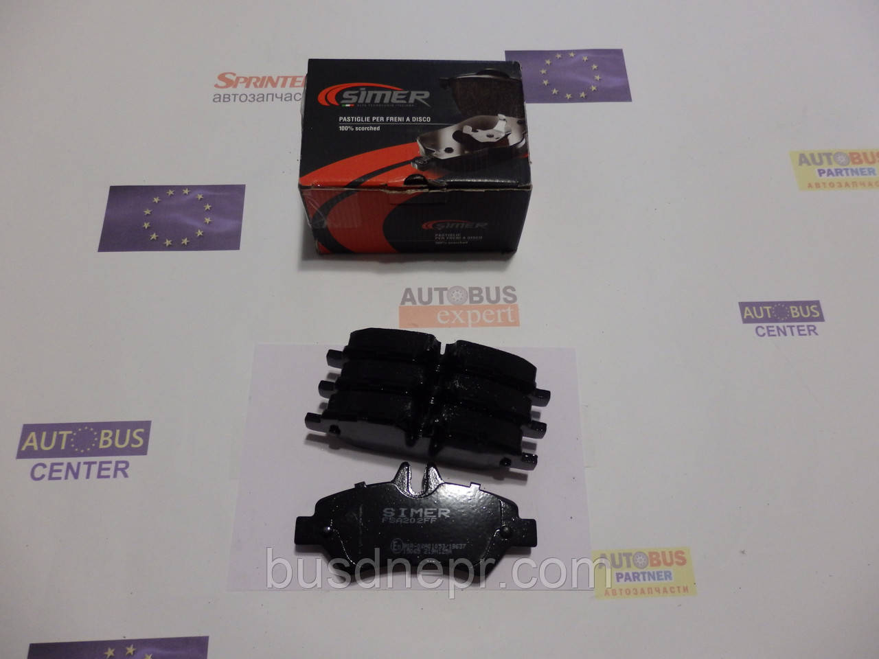 Тормозные колодки, задние (не спарка), MB Sprinter, VW Crafter 06- SIMER SI963