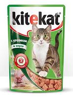 Китикет Kitekat пауч влажный корм для кошек кролик в соусе, 100 г