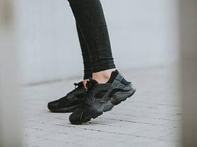 Кроссовки Nike Huarache Run GS Black 654275-016 (Оригинал), фото 3