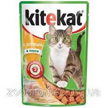 Кітікет Kitekat пауч вологий корм для дорослих кішок курка в соусі, 100 г