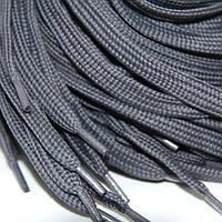 Шнурок 10 мм плоский темно серый 150 см