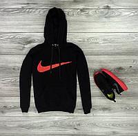 Трикотажная спортивная куртка кенгуру Nike, черная