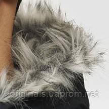 Зимняя куртка мужская с капюшоном Adidas Filled Fur-Trim AP9551 черная, фото 2