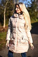 Женская куртка пуховик ткань мемори на силиконе 300 плотности