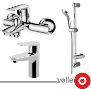 Набор смесителей для ванны VOLLE NEMO (15141100 + 15142100 + 15146100), фото 2