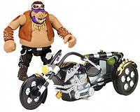 Боевой транспорт с фигуркой TMNT Черепашки-ниндзя Movie 2 Байк и эксклюзивная фигурка Бибопа 89302