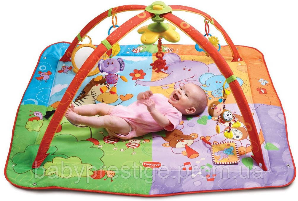 Развивающий коврик Разноцветное Сафари Tiny Love