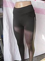 ЭКО - кожа вставки Женские лосины Хит сезона